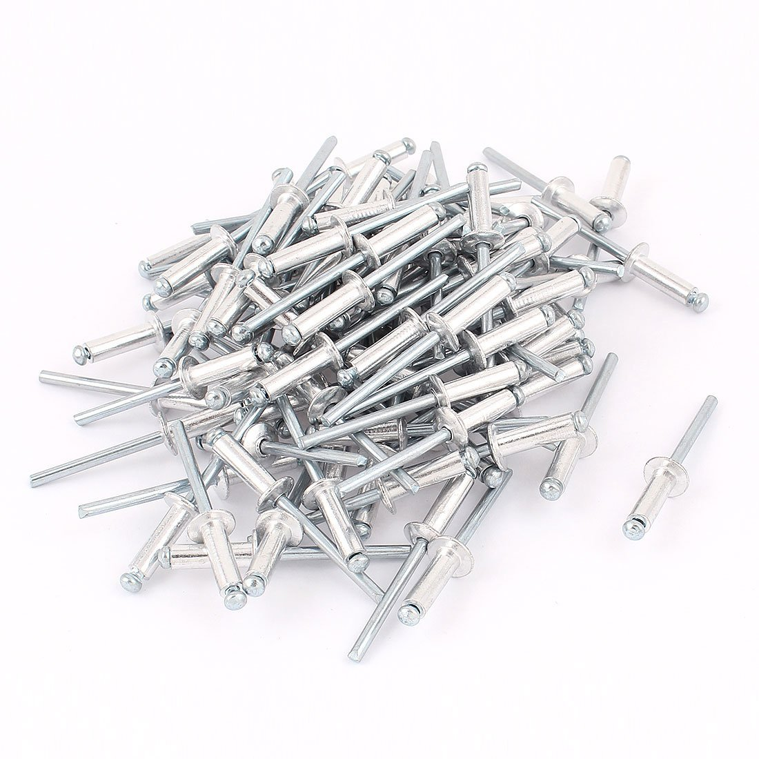100Pcs 4.8mm 3/16 Aluminium Large Flange Open End Blind Pop Rivet100Pcs 4.8mm 3/16 Aluminium Large Flange Open End Blind Pop Rivet