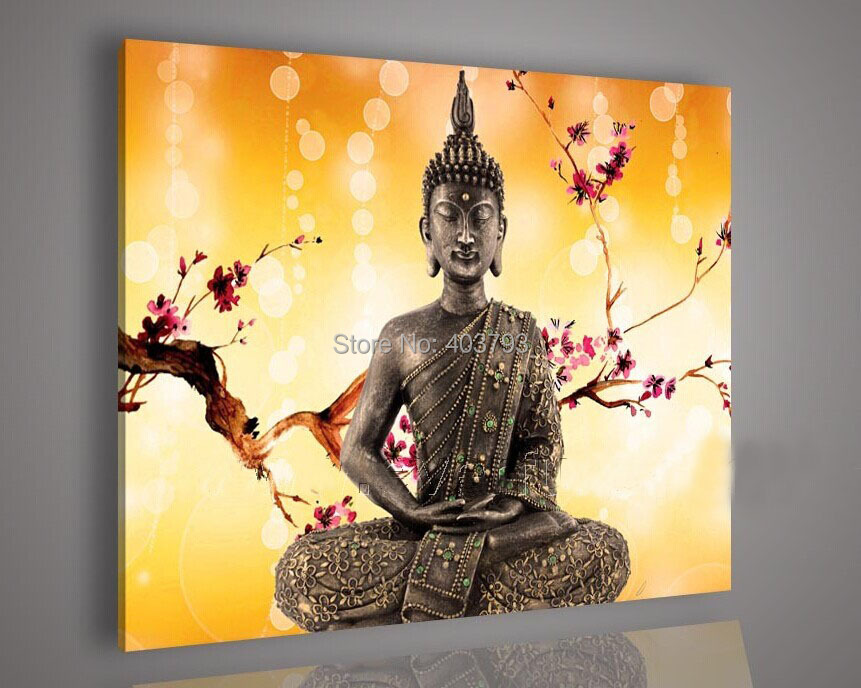 MODERN ABSTRACT HUGE LARGE CANVAS ART OIL PAINTING buddha paintings ...