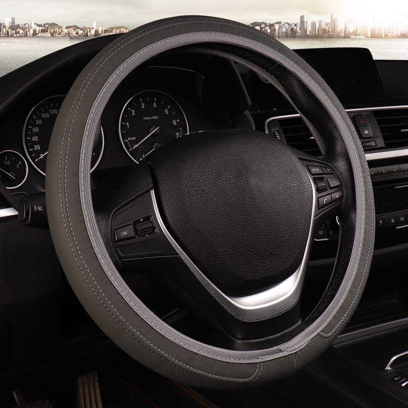 2019 Leather Streamlined Elastic Type Without Inner Ring Car Steering Wheel Cover Auto Protector Auto In Interior Accessories in Steering Covers from Automobiles Motorcycles