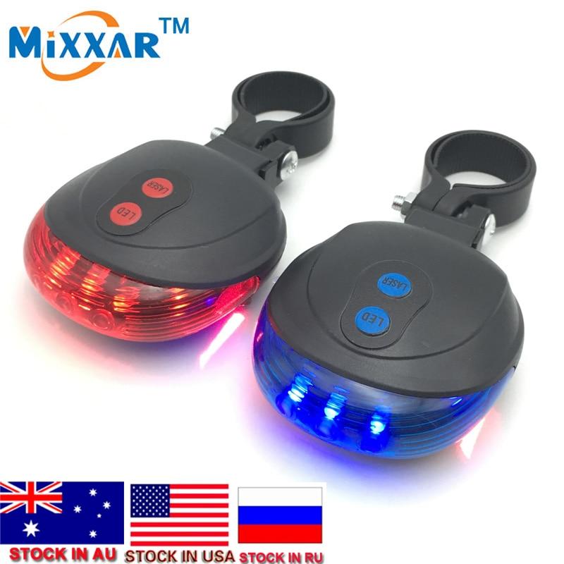 ZK30 Fietsverlichting Fietsen Waterdicht 5 LED 2 Lasers Achterlicht - Wielersport