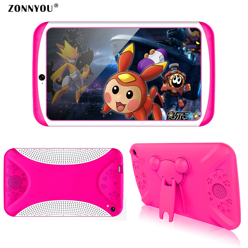 цена на 7 Inch Children Tablet PC Education Android4.4 Quad-core 8GB Design Learning WiFi Bluetooth Tablet PC Flash