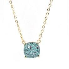 Хит продаж блестящее Звездное квадратное ожерелье разные цвета
