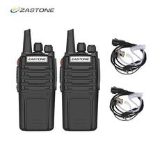 (2 pces) rádio portátil portátil do rádio do rádio de amador de zastone walkie talkie a9 10 w uhf 400 480 mhz transceptor handheld cb comunicador