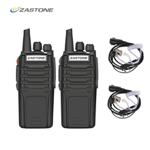 (2 pièces) Zastone talkie walkie A9 10 W Radio Amador UHF 400 480 MHz émetteur récepteur de poche CB Radio Portable Comunicador