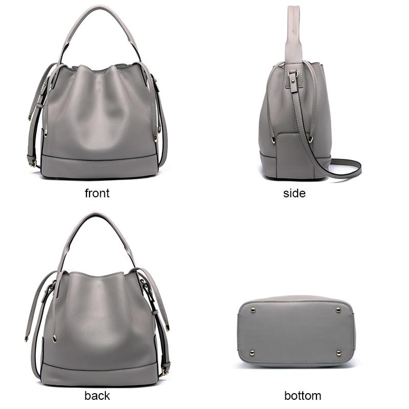 LY. Rekina marka luksusowe torebki damskie torby projektant Crossbody torby dla kobiet Messenger torby torba z prawdziwej skóry torba na ramię wiadro w Torebki na ramię od Bagaże i torby na  Grupa 3
