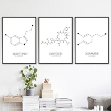 Chemistry Poster Minimalist Canvas Geometric Wall Art Nordic Science Prints Painting Love Pictures Unframed