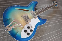 New arrival! Tiger stripes of blue guitarra Rickenback 12 string electric guitar instrumento musical