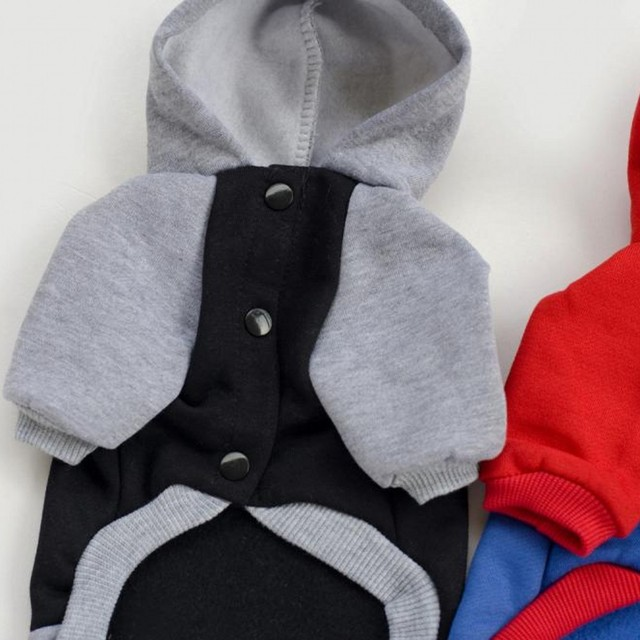 Superman Batman Pet Clothes For Small Dog Hoodie Winter Two Legged Sweatshirt Coat 100%Cotton Warm Pet Clothes For Dog Costume