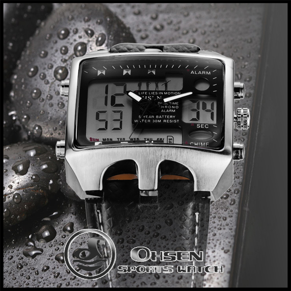 Hot Fashion OHSEN Brand Men Sports Watches Analog Casual Quartz 3ATM Waterproof Sport Military Watch Men Relogio Male Clock Gift (18)