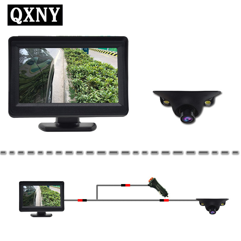 QXNY Mini HD Night Vision Car Left&Right Side View Camera With 2 IR LED Blind Spot Area Shooting Waterproof Easy Installation