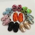 Детские Сначала ходунки Натуральной Кожи Младенца Мокасины Мягкое дно Bebe новорожденных Малышей шнуровке мальчиков обувь Бесплатная доставка