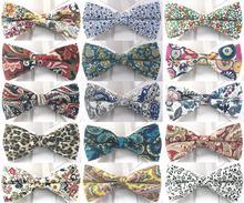 цена на Floral Flower Bow tie Pre-tied Tuxedo Necktie Woven Groom Wedding Mariage Party BowTie Neckwear more than 20 style BWM02