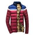 Polos de nova Marca Inverno Quente Homens Jaqueta de Alta Qualidade Para Baixo Algodão Roupas Jaqueta Moda Inverno Quente Jaqueta Parka MZ071