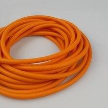 Doğal lateks sapanların kauçuk tüp 0.5/1/2/3/4/5M avcılık çekim için yüksek elastik boru bandı aksesuarları 2mmX5mm çapı