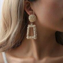 Big Metal Gold Earring Pendientes Exaggeration Geometry Originality Eardrop Personality Long For Women Oorbellen Jewelry