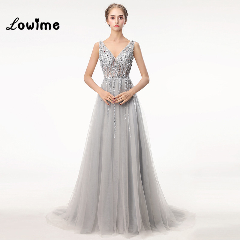 Women Evening font b Dress b font Vestido Beaded font b Prom b font font b