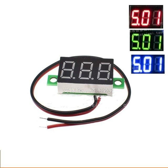 US $1 3  Aliexpress com : Buy Micro 0 36 inch digital 2 7V 32V precision  digital display digital Voltmeter 2 7v to 32v LED green from Reliable micro