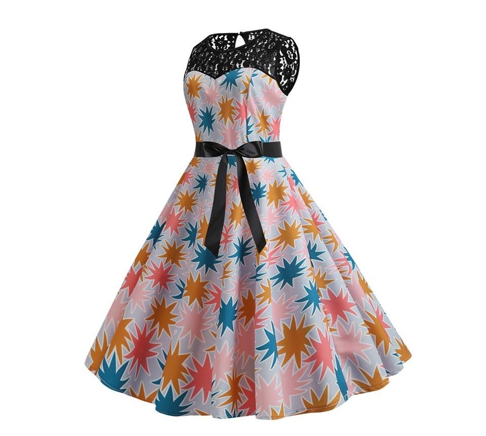 Koktejlové párty šaty jednofarebné s čipkou (10 variánt) 13