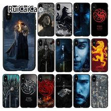 Ruicaica Game of Thrones  TPU Soft Silicone Phone Case Cover for Apple iPhone 8 7 6 6S Plus X XS MAX 5 5S SE XR Cellphones цена и фото