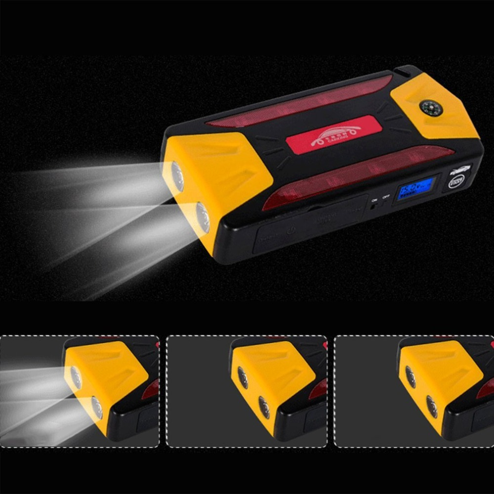 Mini Portable 82800mAh Pack Car Jump Starter Multifunction Emergency Charger Booster Power Bank Battery 600A UK Plug цена