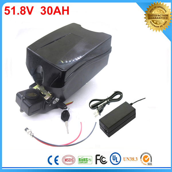 high quality F-rog Electric Bike Lithium Ion Battery 51.8v 30ah e bike  lithium battery 52v 1500w bike battery For Sanyo Cell