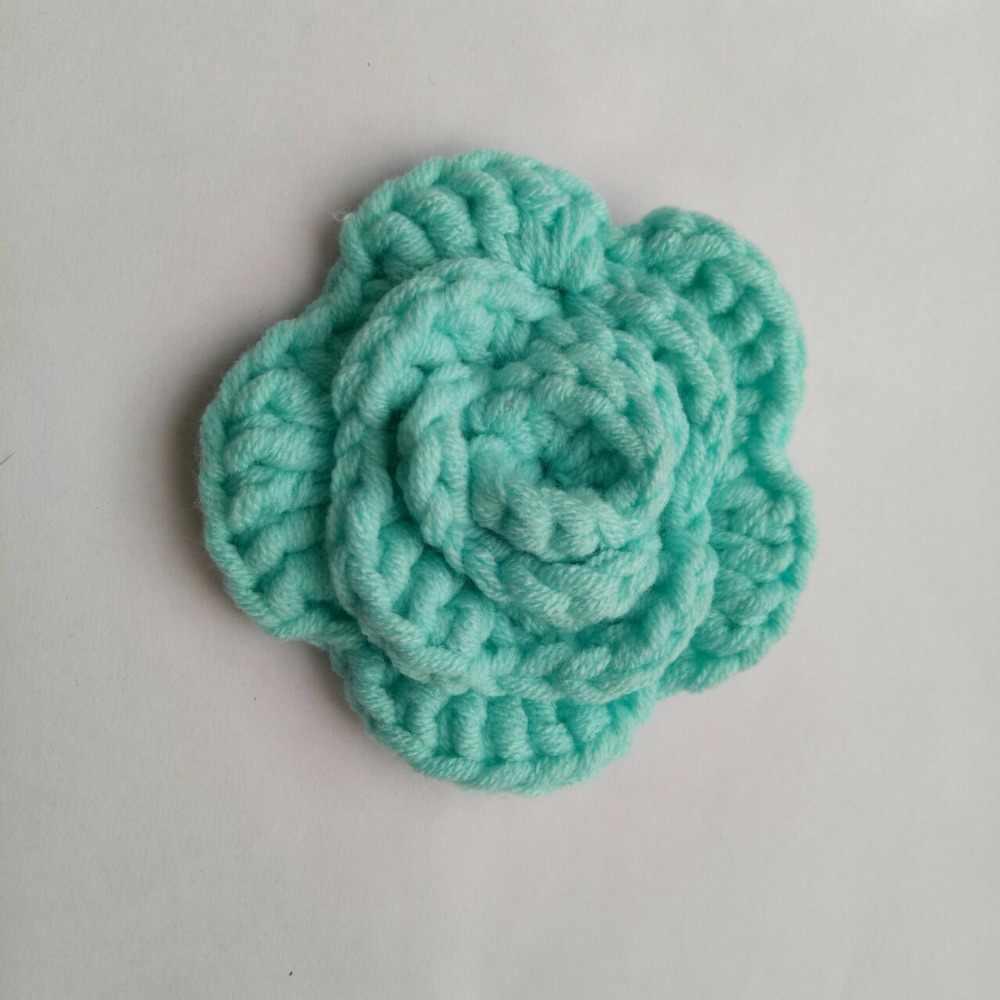 350b74f7d 2 piezas broches Crochet lana rosa Collar de flor de Broche mujer gruesos  de la joyería, pulsera de novio Broche de traje de los hombres Accesorios