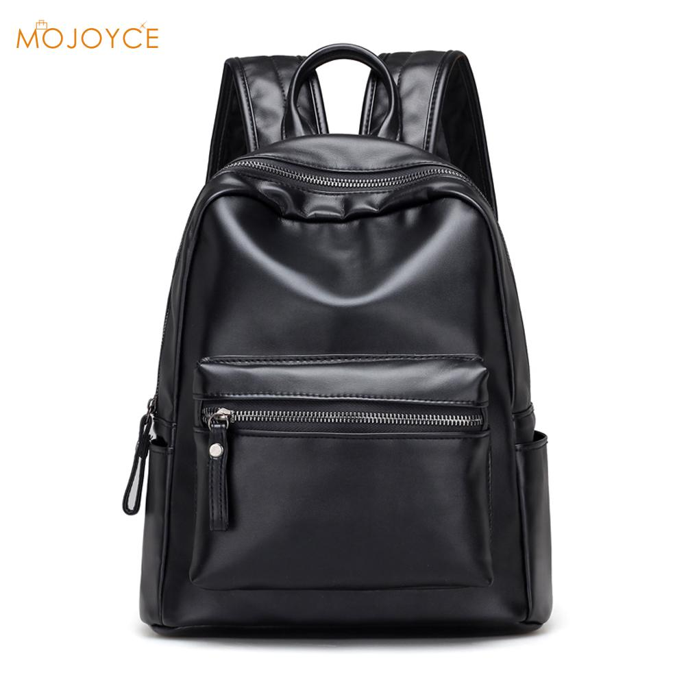 New Leisure Travel Backpack Fashion Women Backpack Student Schoolbag Girls Large Soft PU Leather Women Laptop