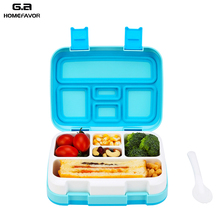 2 or 1 Pcs Lunch Box For Kids Food Containers Microwavable Bento Snack Cartoon School Waterproof Storage