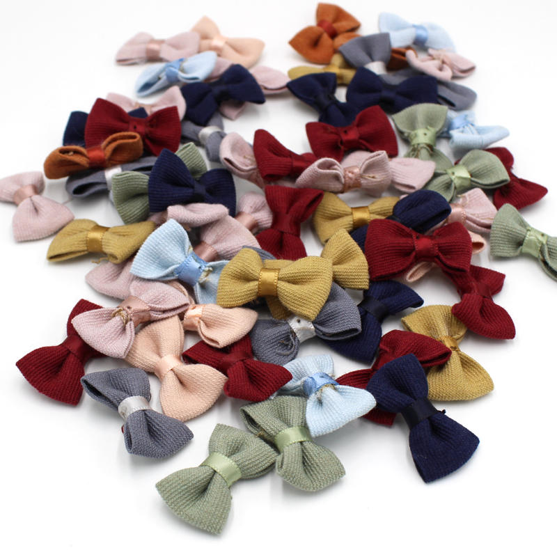 20pcs/lot Cloth Bow-Knot Mini Rosette for Home Wedding Party Cloth Cake Clothing Decoration Scrapbooking DIY Crafts Supplies