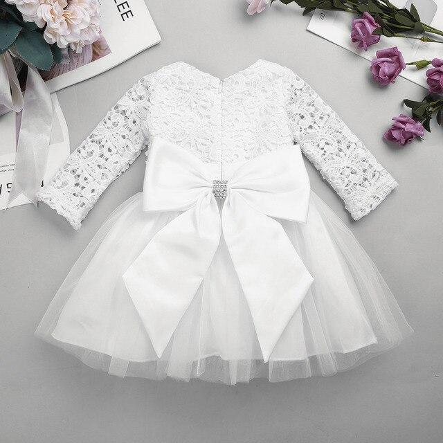 437fd6ae5 Infantil Baby Girls Lacework Flower Girl Dress with Detachable Bowknot  Princess Dresses Wedding Bridesmaid Birthday Party Dress