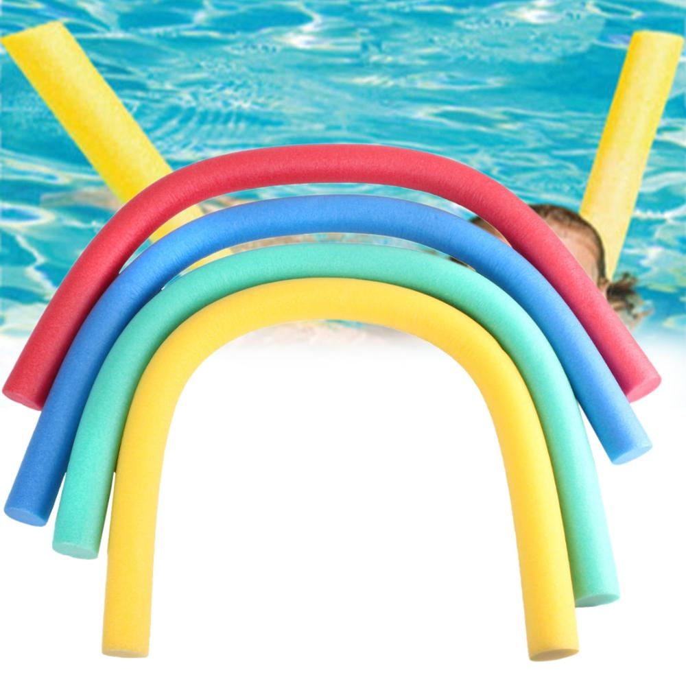 Colorful Water Floating Swimming Pool Noodle Foam Water Float Aid Woggle Solid Noodle Flexible Row Ring Kids Pool Noodle Accesso