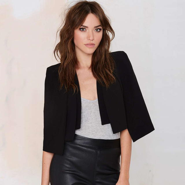 Short Cloak Cape Blazer