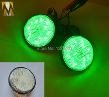 High light green Round LED Reflectors for Universal Motorcycle car truck high performance Brake Light blinker