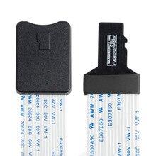 48 cm/60 cm micro sd tf cartão de memória kit macho para sd extensão fêmea plana cabo fpc extensor para carro gps telefone tv câmera