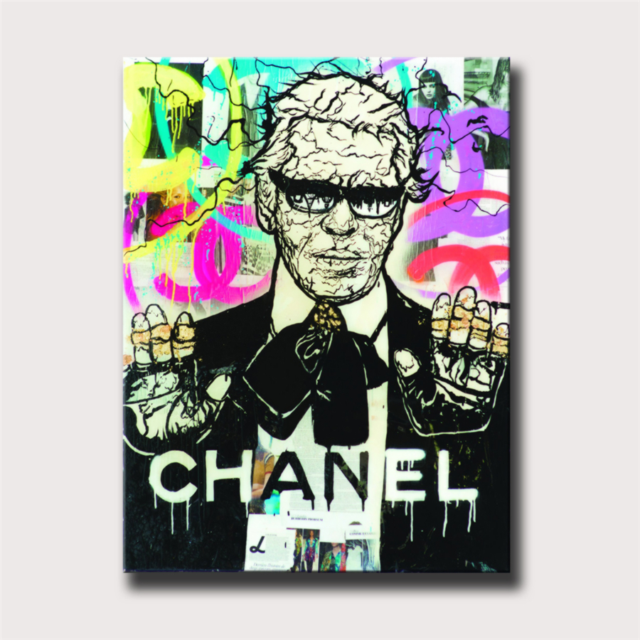 Alec Monopolys Lagerfeld HD Wall Art Canvas Poster Print Canvas Painting Decorative for Office Living Room Home Decor