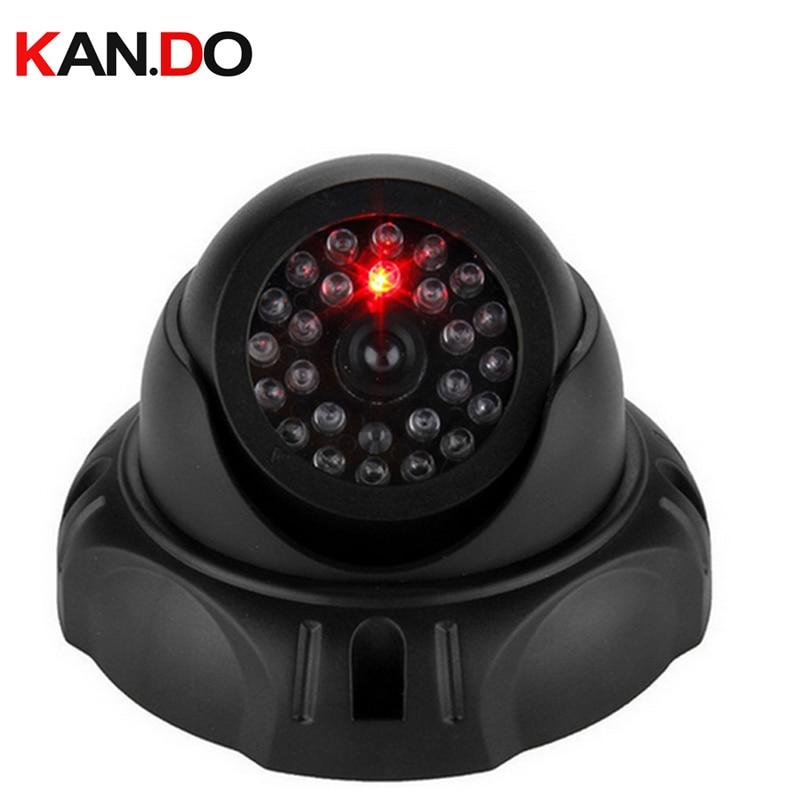 Mr2501 LED flashing dome dummy camera imitation fake Camera,scaring camera w/ IR LED flash dummy camera w/ packing dome CAM ...