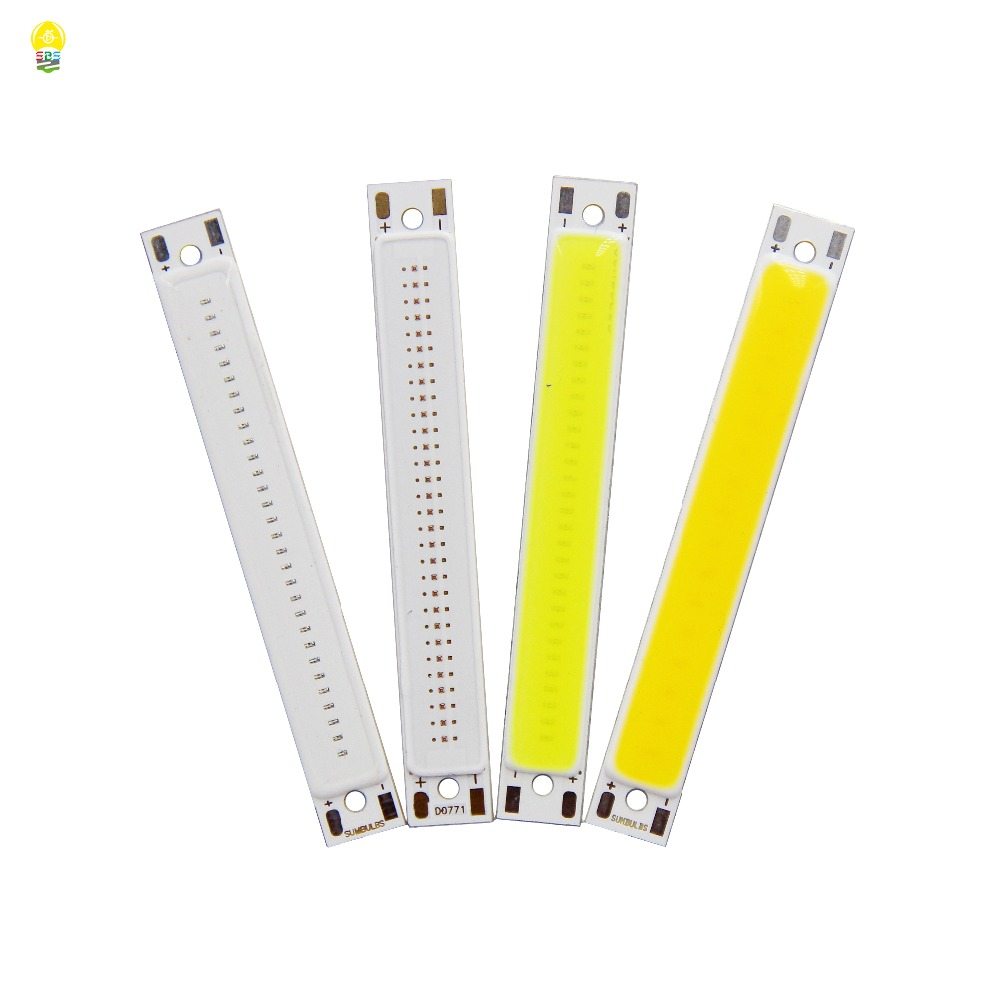 DC3-3.7V 2V COB LED Bulb 60x8mm 1.5W 3W Light Source Warm Cold White Blue Red LED COB Strip Chip For DIY Work Bicycle Lighting