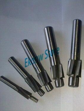 5pcs/set 4 Flute HSS AL Counterbore End Mill M3 M4 M5 M6 M8 metric Endmill/ sink holes drilling head milling cutter