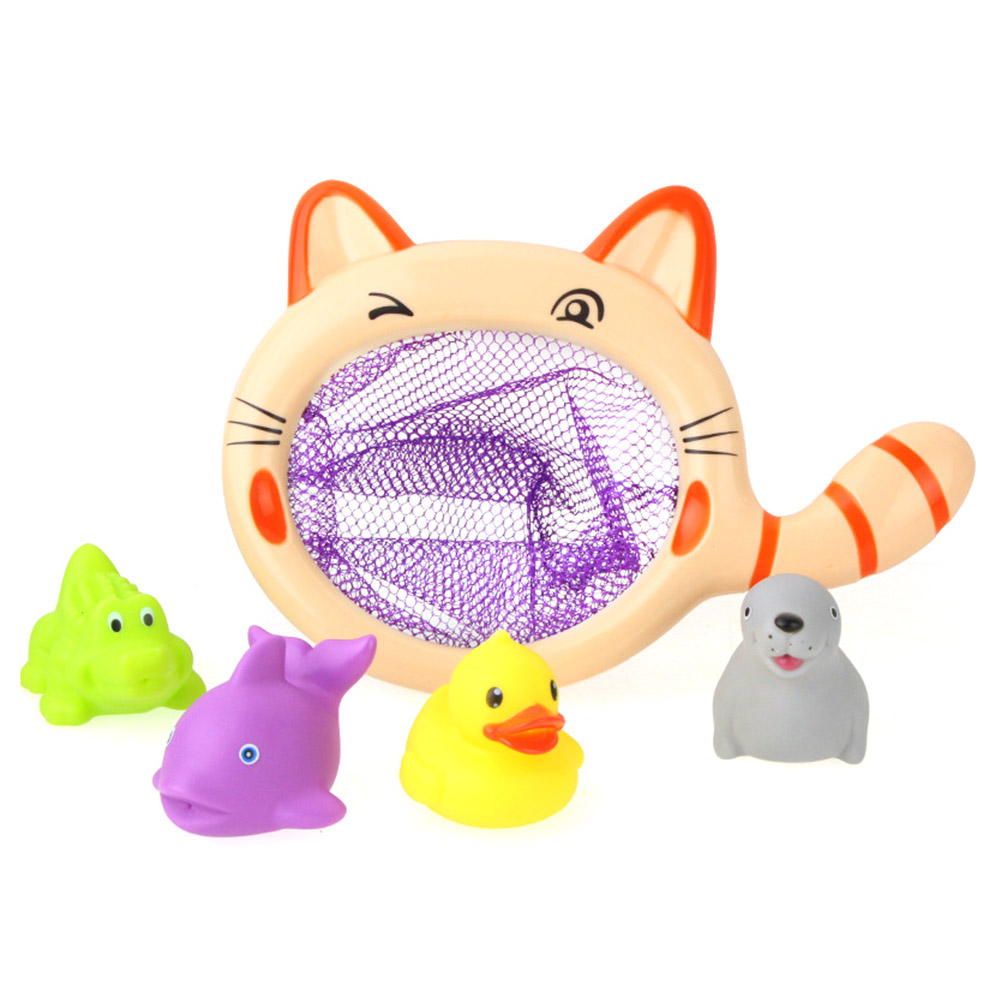 Funny Net Fishing Big Cat Fishing Toys Swimming Pool Bathtub Toys