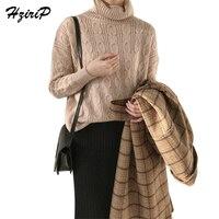 HziriP Autumn Winter Twist Knitwear Women Fittingroom Loose Casual Knitting Pullover Solid Sweater Female Wild Warm