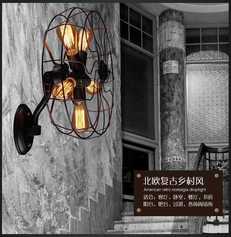 Лофт промышленный воздух Гостиная Спальня прикроватный американский кантри простой креативный персональный промышленный электрический в