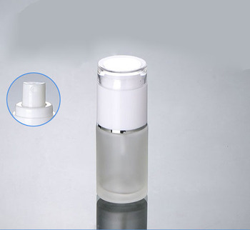 50PCS 30ml frosted glass white press mist sprayer container , empty glass 1ounce sprayer bottle , Cosmetic Packaging for sale