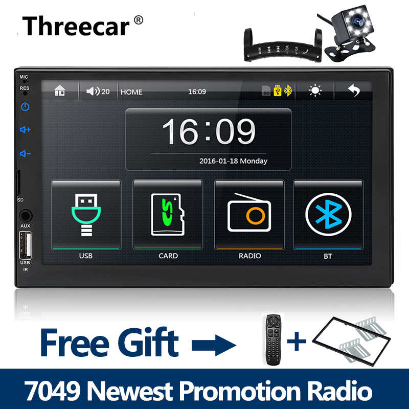 "2 din auto radio 7 ""HD Speler MP5 Spiegel Link Android telefoons Bluetooth Multimedia USB 2din Autoradio Auto Backup monitor 1024X600"