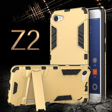 MAKAVO For Lenovo Zuk Z2 Case 2 in 1 Silicone + PC Armor Hard Back Cover with Kickstand Heavy Duty Stand Fundas