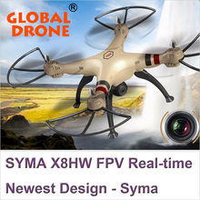 2016 nieuwste Syma grote schaal rc drone X8HW WIFI FPV Met 1MP HD Camera 2.4G 4CH 6 Axis Hoogte Houden RC Quadcopter vs U818s H11D