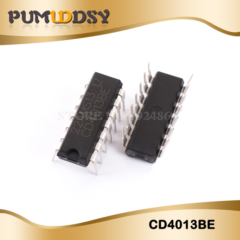 100 PCS CD4013BE DIP-14 CD4013 CMOS DUAL D-TYPE FLIP-FLOP