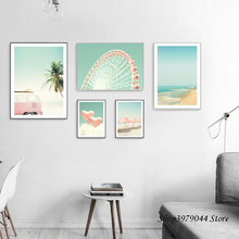 Nordic Landscape Posters And Prints Wall Art Coconut Tree Vintage Posters Beach Painting Wall Pictures For Living Room Unframed coconut palm tree beach wall art canvas painting nordic landscape posters and prints wall pictures for living room unframed