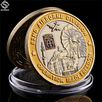 2003 Operation Iraqi Freedom 82nd Airborne Division Saint George Commemorative Challenge Coin Collection Gift saint michael the archangel commemorative challenge coins collection token art