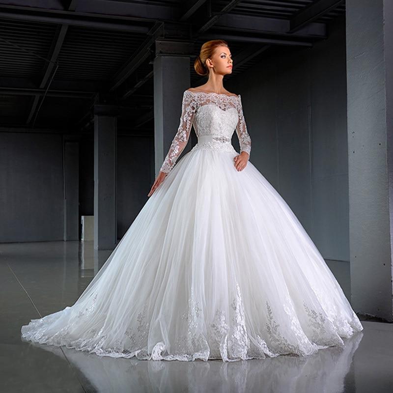 2016 Bride Dress Elegant Fashion White Off Shoulder Lace