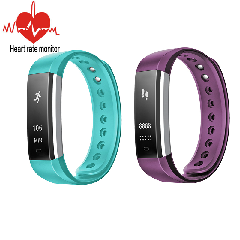 ID115 HR Wristband Bracelet Smart Heart Rate Monitor Fitness Tracker Step Counter Activity For Smart Phone